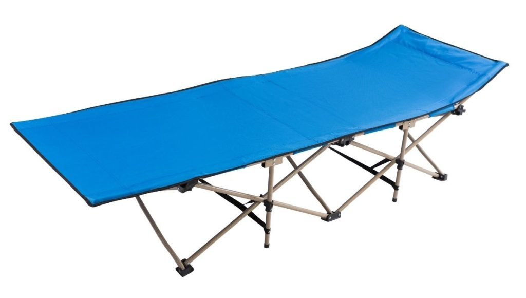 An example of a camping cot to highlight the differences when comparing a Camping Cot vs Air Mattress