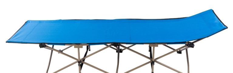 a clean camping cot
